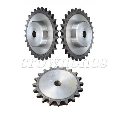 "2Pcs Chain Drive Sprocket 11T Bore 6mm Pitch 1/4"" 6.35mm For 25H 04C 2 Chain"