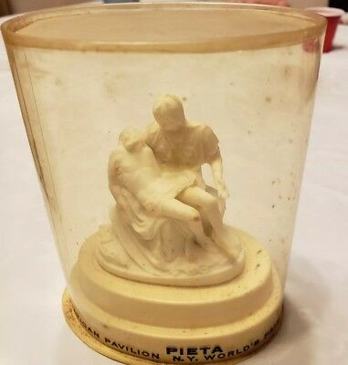 Vintage Vatican Pavilion New York World's Fair 1964 1965 Chalkware Pieta Statue
