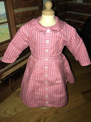 Authentic American Girl Doll/Pleasant Company Brand Addy Pink Striped Meet Dress