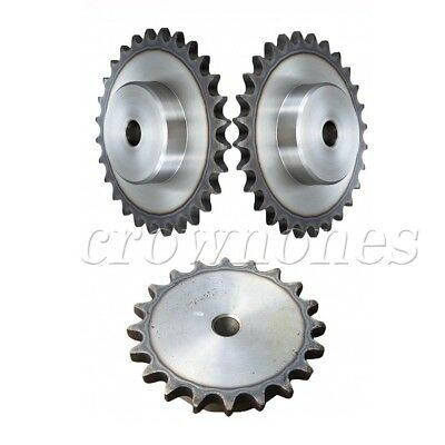 "2Pcs Chain Drive Sprocket 12T Bore 10mm Pitch 1/4"" 6.35mm For 25H 04C 2 Chain"