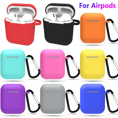 Skin Earphones Pouch Candy Color Silicone Case Cover For Apple AirPods
