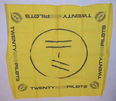 Twenty One Pilots 21 Trench Album Tour Yellow Bandana Scarf Official Merch NEW
