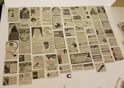 50 antique Ladies Magazine ads 1916 advertising lot vintage paper clippings C