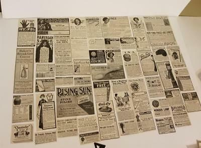 50 antique Magazine sewing ads 1911 advertising lot vintage paper clippings A