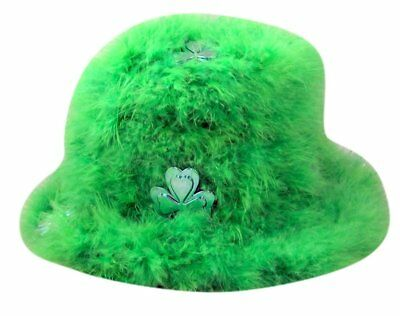 Green Feather Shamrock ST. Patricks Day Party Costume Hat