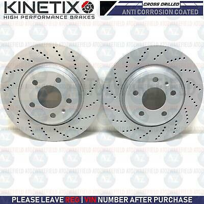 FOR AUDI A6 C7 REAR CROSS DRILLED BRAKE DISCS COATED PAIR 300mm
