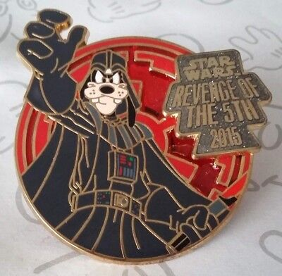 Star Wars Revenge of the 5th 2015 Goofy as Darth Vader Disney Pin 108928