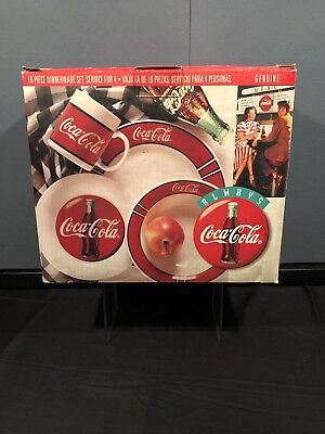 Coca Cola 16 Piece Dinnerware Set by Gibson For Four