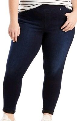 7a15081994dd7 New Womens 16W Levi Strauss Perfectly Shaping Pull On Skinny Blue Jeans  Leggings