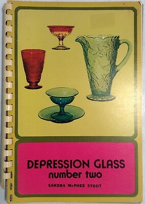 Depression Glass Number Two 1971 Spiral Bound Sandra McPhee Stout PreownedBook