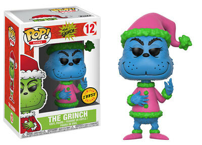 Dr Seuss - Santa Grinch (Limited Blue Chase Edition) Pop! Vinyl Figure NEW Funko