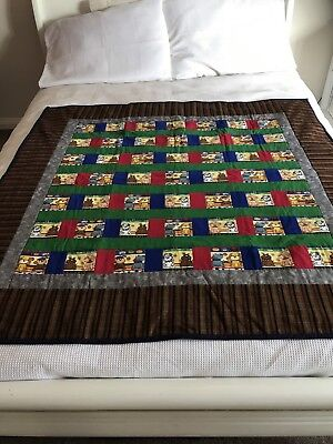"Handmade patchwork quilt 'little Dogs' Size 50"" Wide X 49.5"" Long"