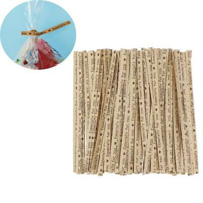 100Pcs Gift Wrapping Especially For You Twist Ties Bakery Cookie Candy Packaging