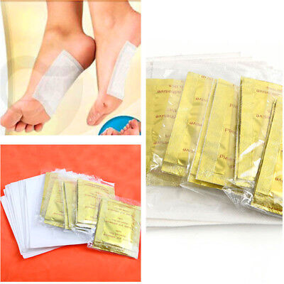 10PCS Foot Pads with Adhesive Patches Detox Chinese Medicine Paste Health Care
