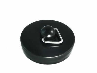 Lot Of 48 x BLACK Plastic Basin/Sink Bath Plug Stop Stopper - 1 1/2 Inch (38Mm)