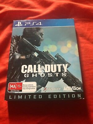 Call Of Duty Ghosts Steelbook + Game PlayStation 4