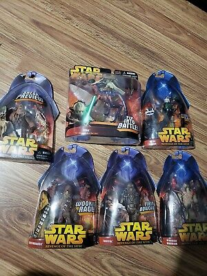 Star Wars Revenge Of The Sith Action Figure Lot Yoda And Chewbacca 36 00 Picclick