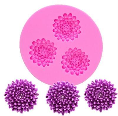 Chrysanthemum Sunflower Flower Cake Deco Tools DIY Fondant Cookies Silicone Mold