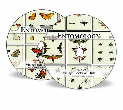 Entomology Insect Life  - Rare Books on 2 DVDs - Study Zoology Illustrations 239