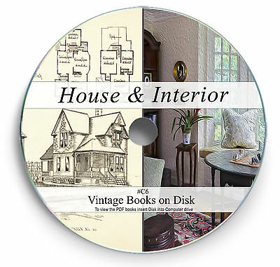 Rare Vintage House Design Construction Plans on DVD - Architect Home Interior C6