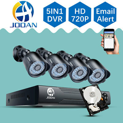 JOOAN 8CH AHD Outdoor Security System 720P Camera CCTV 1080N DVR 1TB