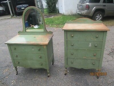 Furniture Antique Child's Bedroom Dresser and chest Cottage shabby chic