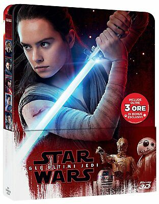 Star Wars - The Last Jedi (3D + 2D Blu-ray + Bonus Disc Steelbook) BRAND NEW