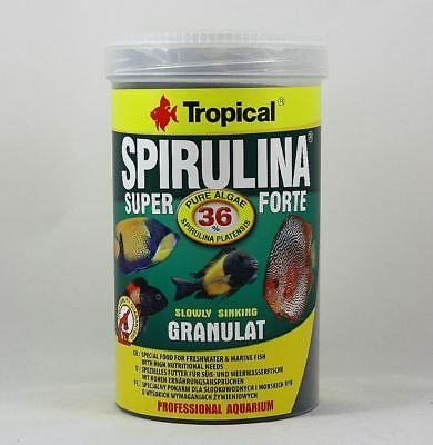 Spirulina Super Forte Granulate 1000ml Tropical for Sweet and Saltwater 24,99 €/