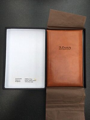 Cathian Leather Memo And Address Book Brown New