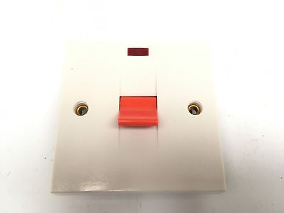 45Amp Double Pole Switch With Neon For Cookers And Showers