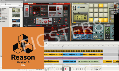 Propellerhead REASON 10 LITE - 8 tracks, 9 instruments, 2GB sounds! Mac or PC