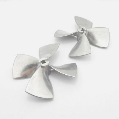 4-Blades Propeller For Shaft RC Boat Scale Marine Parts Zinc Alloy Practical