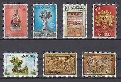 Spanish Andorra - Year 1974  Complete Mnh - Edifil 89/95