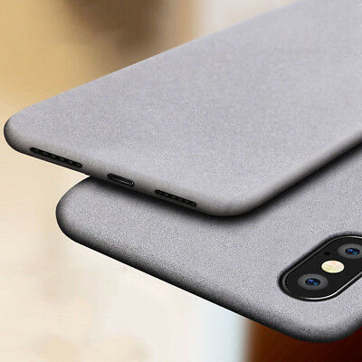 For iPhone Xs Max X Shockproof Ultra Thin Soft TPU Sandstone Matte Case Cover