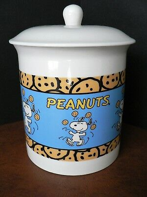 Peanuts SNOOPY Chocolate Chip Cookie Jar - COLLECTIBLE Ceramic EUC
