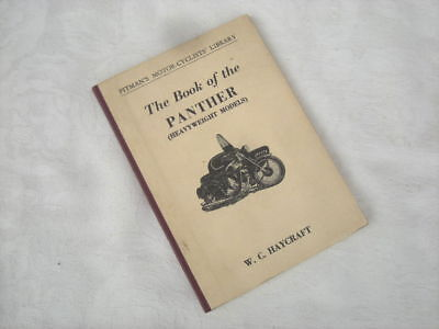 Vintage THE BOOK OF THE PANTHER, Haycraft, Pitman's - Motorcycle, Motorbike