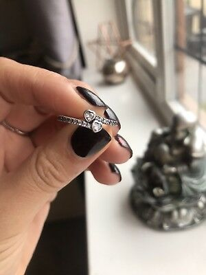 PANDORA FOREVER HEARTS RING, STERLING SILVER, Size 56