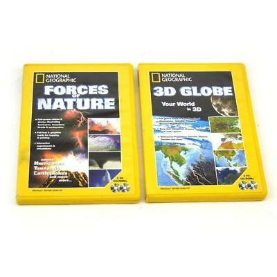 National Geographic PC CD Rom Bundle Forces of Nature and 3D Globe FREE Postage