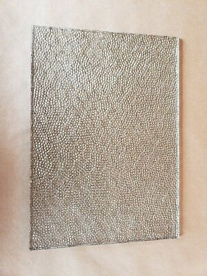 """Chicken Wire Glass Panes 17""""x12"""" Privacy Dots Dimpled Vintage NOS"""