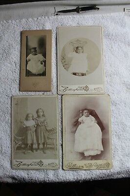 VTG.  Photo Pictures African American  Black Americana CHILDREN ON CARDBOARD