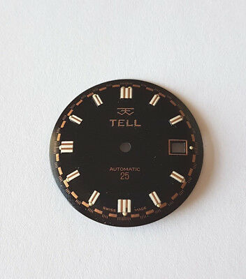 ETA 2472 Watch Dial  29.50 mm Approx TELL Swiss Made