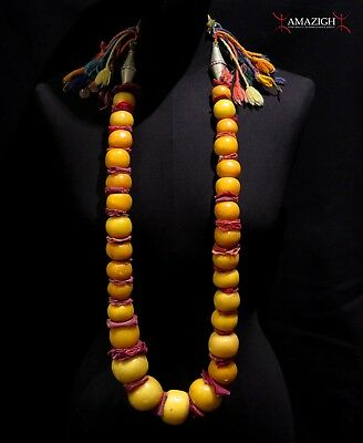 Old Huge Berber Resin-Amber Necklace – Ait Atta Tribe – Morocco