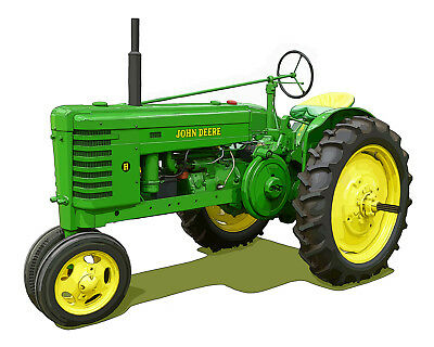John Deere Model H canvas art print by Richard Browne farm tractor