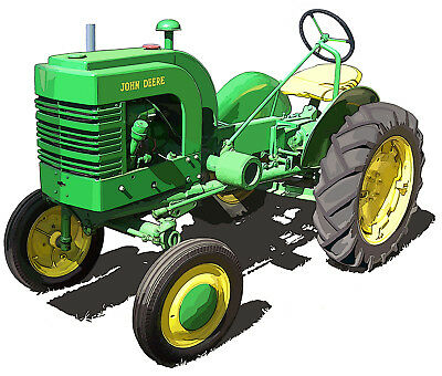 John Deere Model L canvas art print by Richard Browne farm tractor