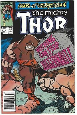 Mighty Thor 411 412 1st Appearance New Warriors Set Marvel 1989 VF/NM Newsstand