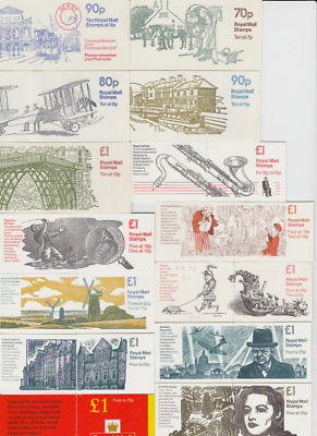 GB SETS  70p - £1.30   Folded Booklets1976 - 2000