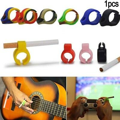 NEW Smoking Cigarettes/Tobacco/Weeds/Joint Holder Ring free hand Black Silicone