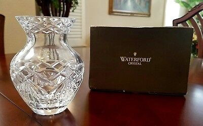 """Waterford Crystal ~ 5.5"""" VASE ~ NIB ~ WEDDING GIFT PERFECT ~ LOVELY"""