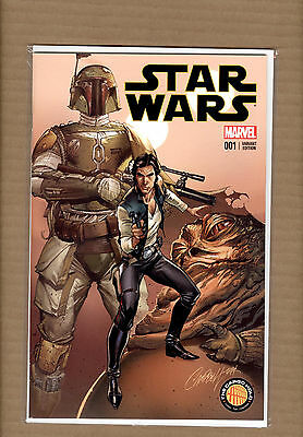 Star Wars #1  J Scott Campbell Variant The Cargo Hold Exclusive Nm/nm-