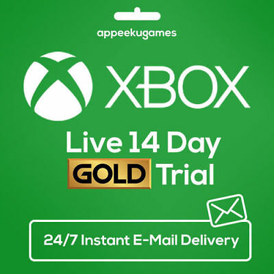 Xbox Live 14 Days 2 Weeks Trial Gold Code 14 Day - Instant DISPATCH Global